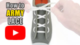 Watch video: How to Army Lace your shoes