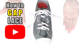 Watch video: How to Gap Lace your shoes