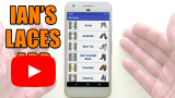 Watch video: Ian's Laces app for Android